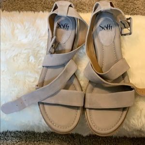 Sofft Shoes - SOFFT BONE LEATHER (SUEDE) ANKLE CROSS SANDALS